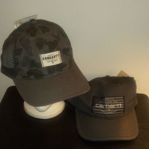 Two Carhartt hats